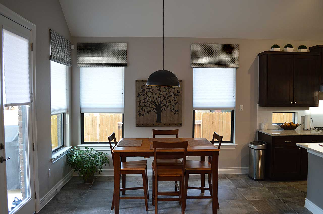 Cellular Shades in Dining Area