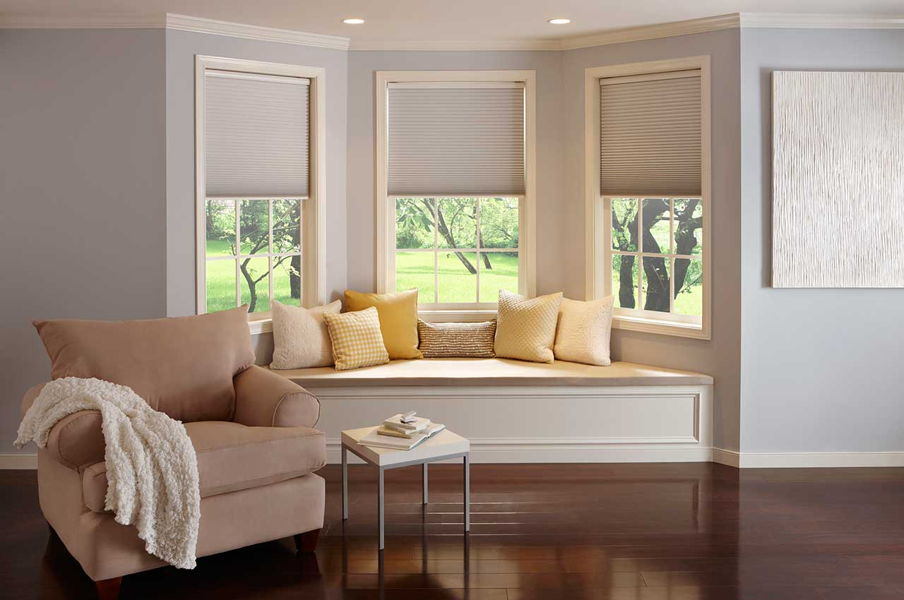 Cellular Shades by Window Seat