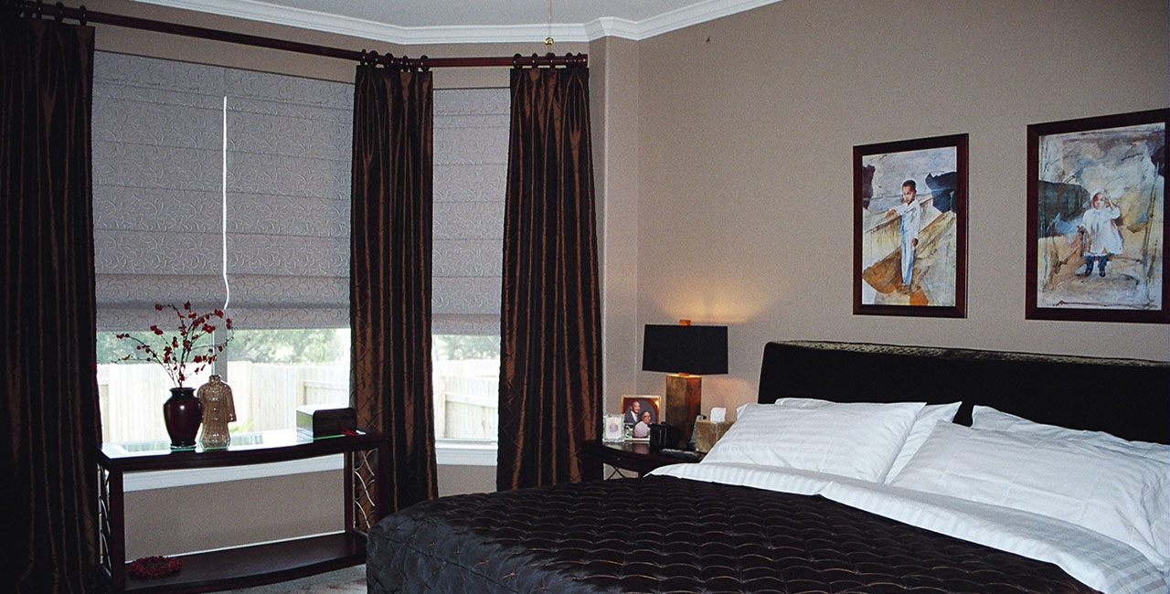Custom Comforter and Shades