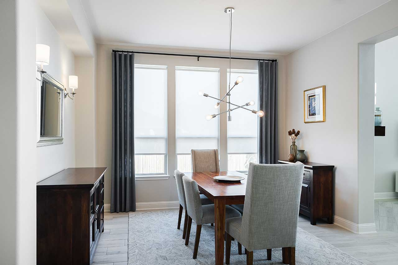Elegant Dining Room Draperies