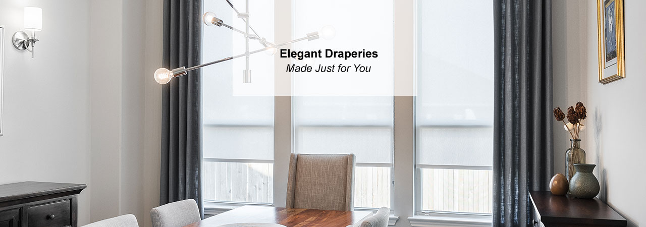 Elegant Dining Room Drapes Custom Made