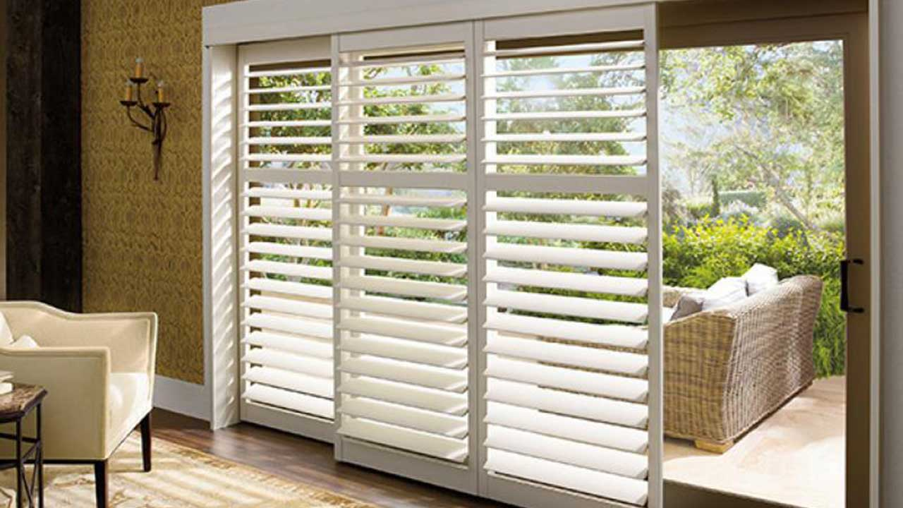 Plantation Shutters to Patio Area
