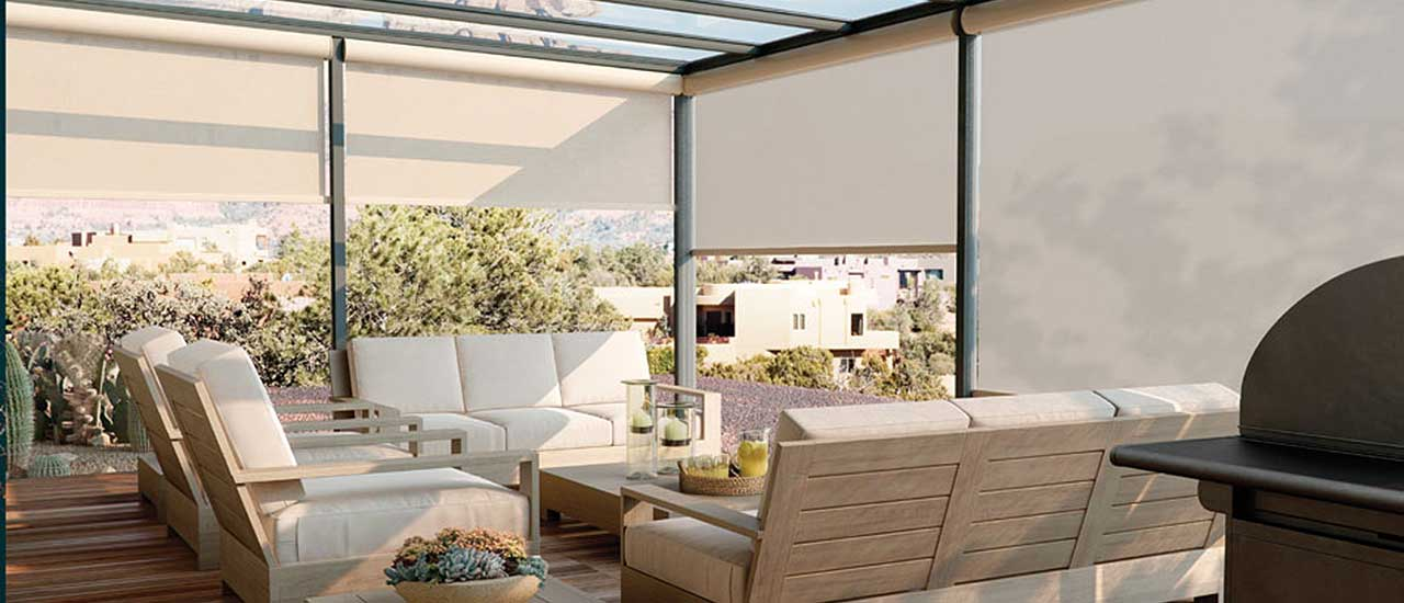 Roller Shades for Outdoor Patio Area
