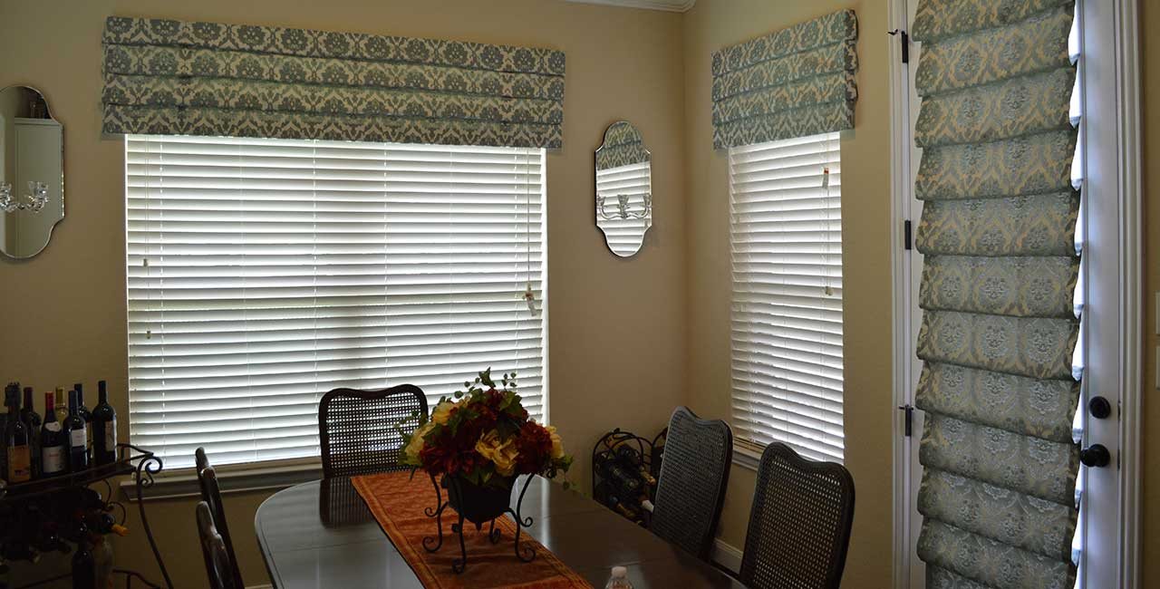 Roman Shades Add to Dining Room Decor