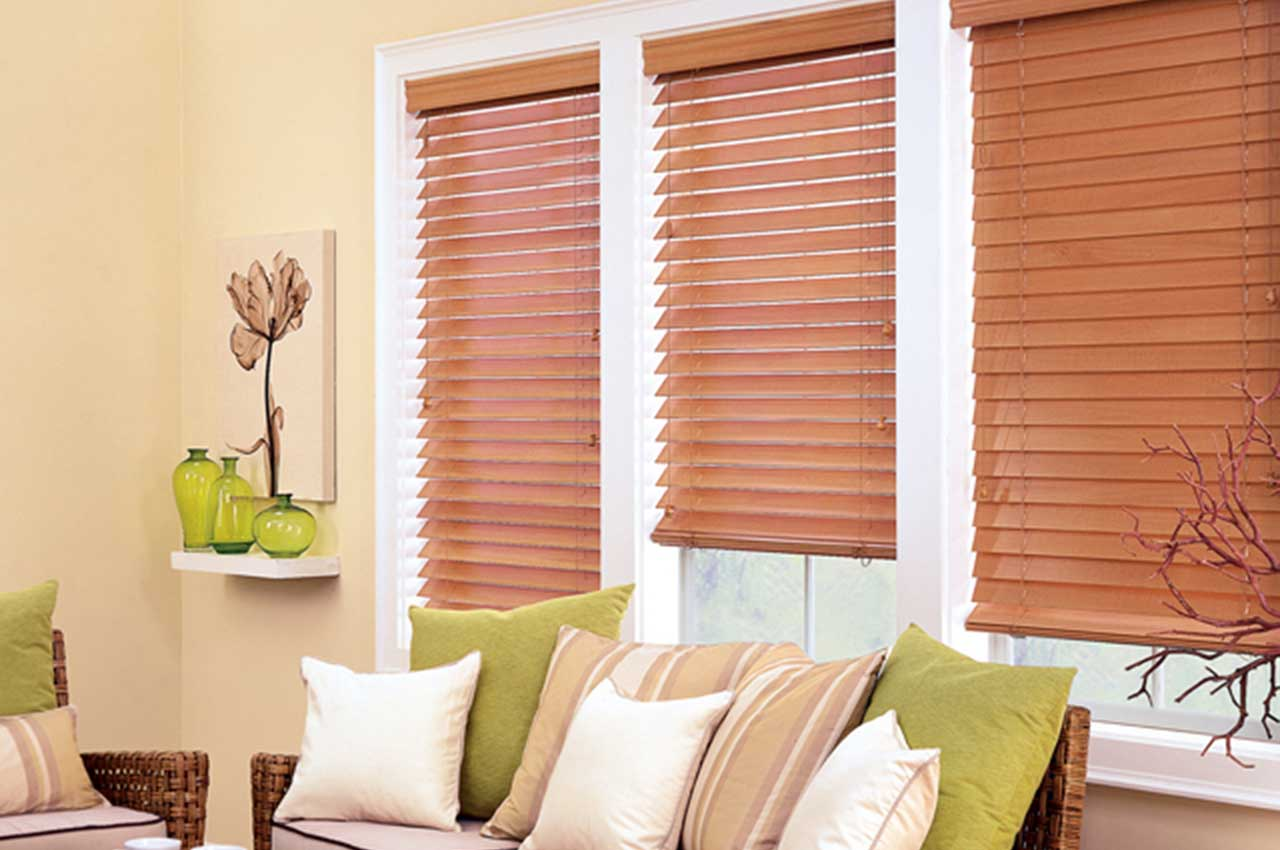 Wooden Blinds Highlight Sitting Area
